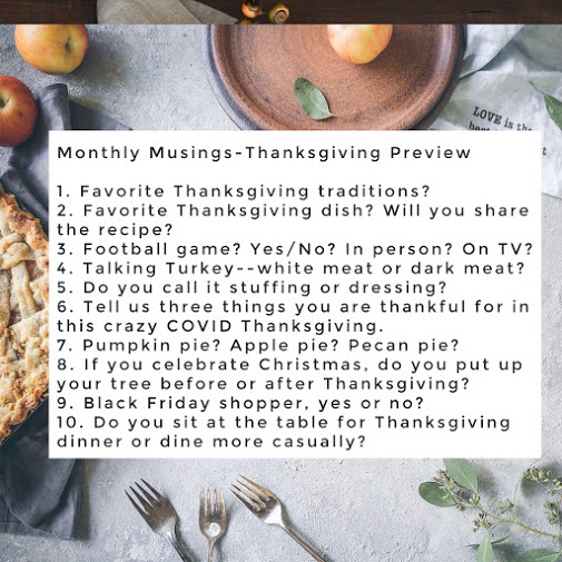 October Monthly Musings-Thanksgiving