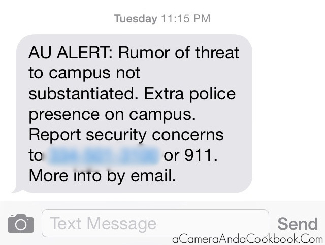 AU Alert: Wednesday 7:16 AM