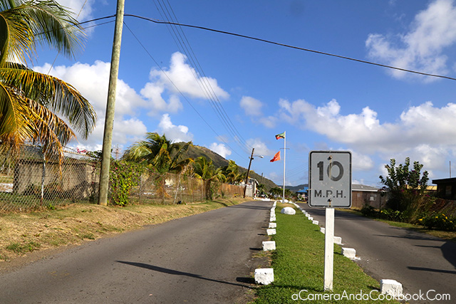 Driving through St. Kitts