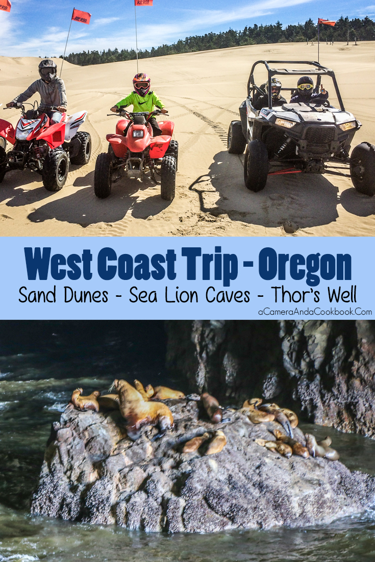 West Coast Trip:Day 8 - Dune ATVS - Sea Lion Caves - Thor's Well - Newport