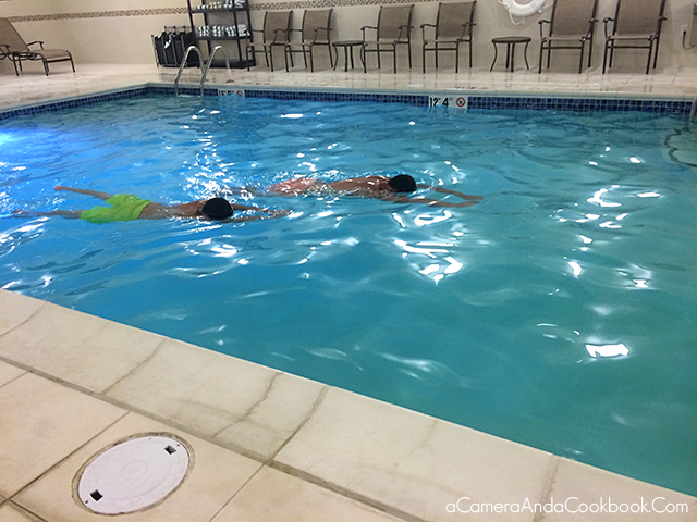 Swimming at the Hampton Inn - Hillsboro, OR