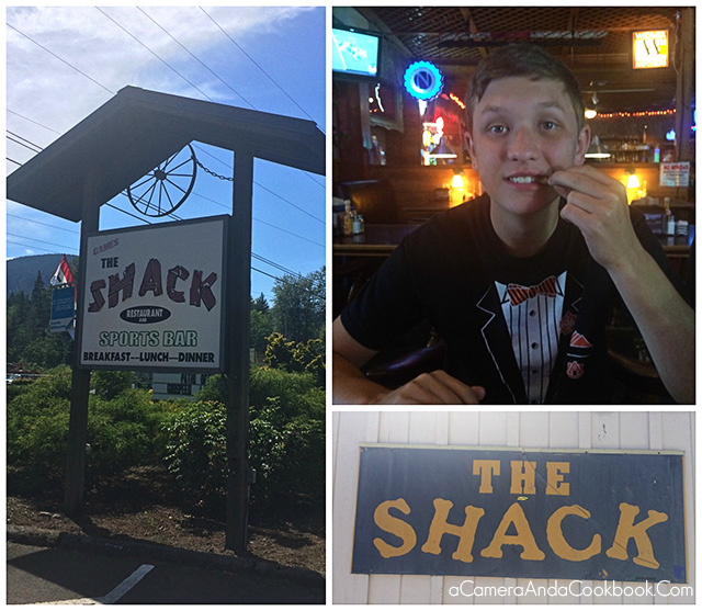 Lunch at The Shack in Welches, Oregon