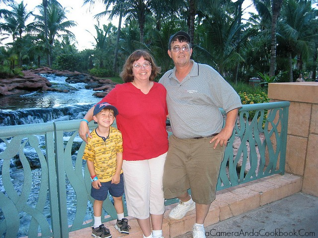 Drew with his Grandparents at Atlantis