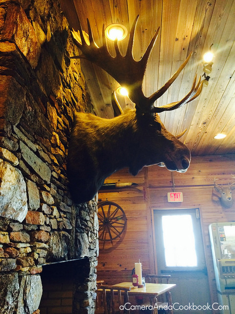 The moose at Big B Bar-B-Que