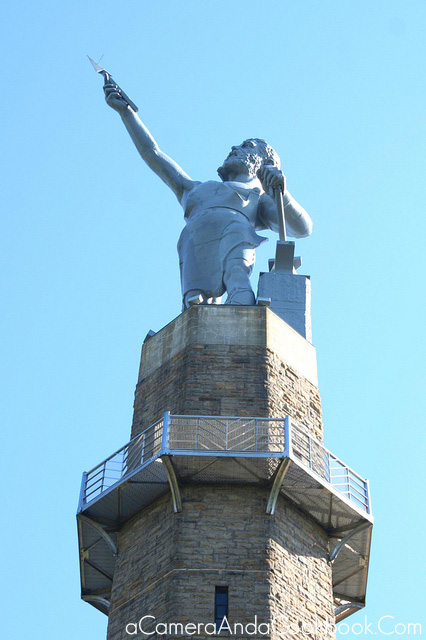 Statue at Vulcan Park