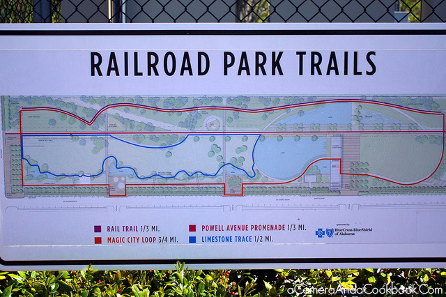 Railroad Park Trials Map in Birmingham