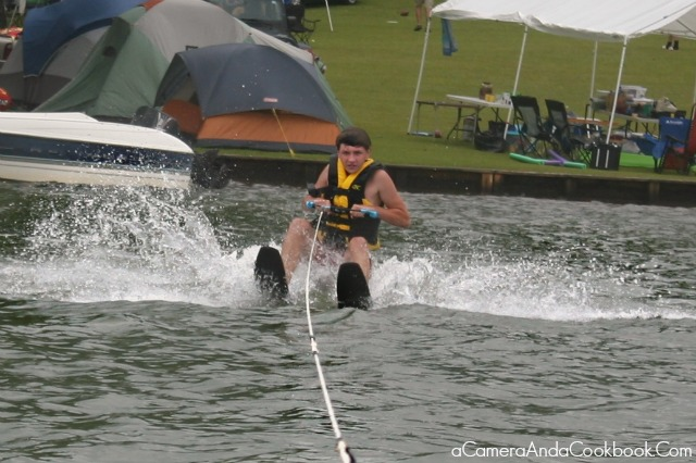 Lake Martin's Fun: Drew's 2nd attempt at water skiing