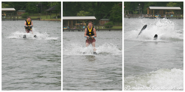 Lake Martin's Fun: Drew's 3rd attempt at water skiing
