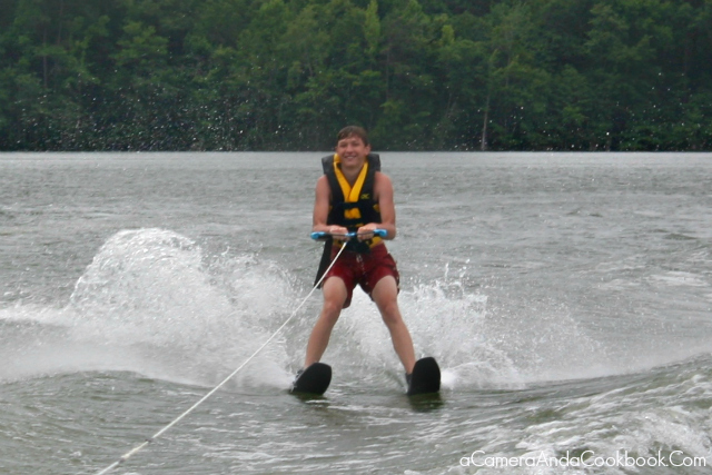 Lake Martin's Fun: Drew's 4th or 5th attempt at water skiing