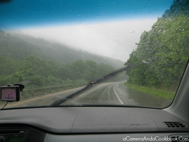 Yucky weather on the way to Gatlinburg