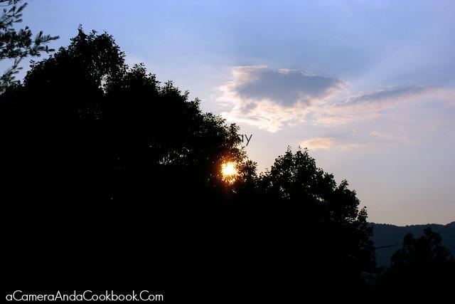 4th of July trip to Murphy, NC - Beautiful Sunset