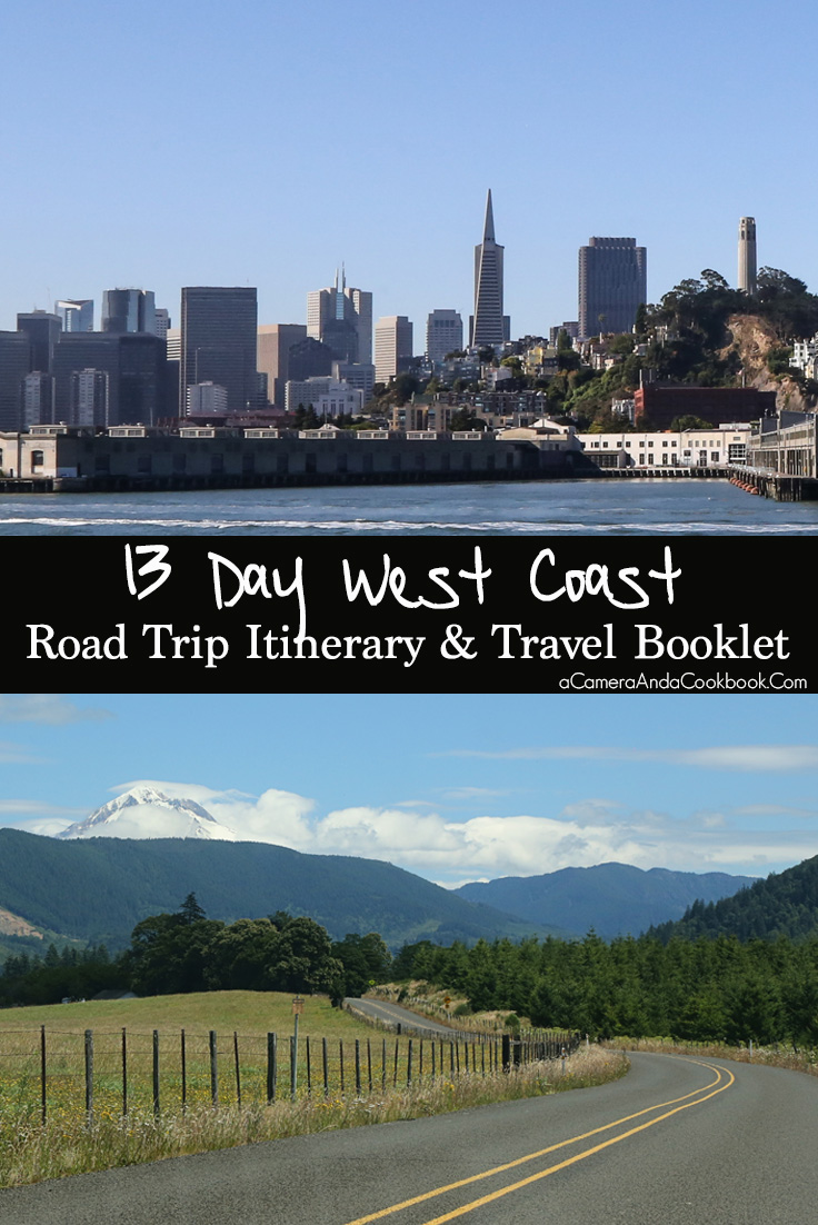 West Coast Road Trip Itinerary & Travel Booklet